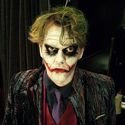 Joker make-up for Casino Helsinki event | Make-up & photo: Riina Laine