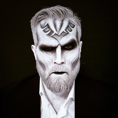White walker inspired face painting | Make-up & photo: Riina Laine