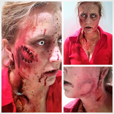 Zombie make-up for Halloween at Casino Helsinki | Make-up & photo: Riina Laine